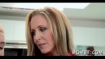 mature dame joys with honeypot diving during uber-sexy threeway