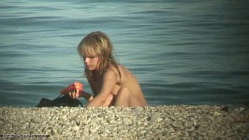 adorable naturist nubile caught on webcam