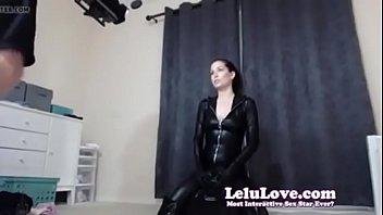 lelu love web cam behind the episodes railing.
