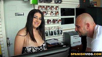 supah-naughty latina gargles a ample penis.