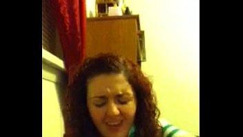 curly hair teenage deep throats her.