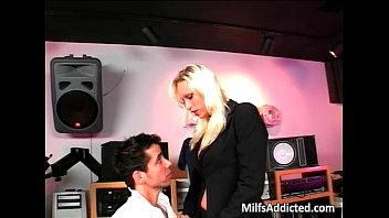 silver-blonde cougar getting barely drilled in.
