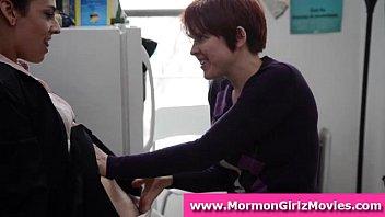 Lesbian fetish sex for young Mormon amateur couple