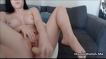 cool ebony-haired with pulverize stick has herself caked.