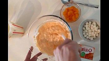 making orange fluff