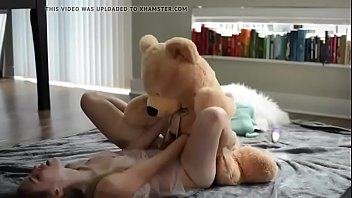 yummy teenager silver-blonde plow her wooly dude hunk-.