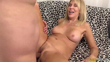mature ash-blonde erica lauren showcases off her slit.