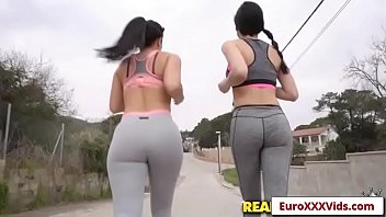 Euro XXX Party - Jogging Fuck Buddies with Claudia Bavel and Francys Belle sex party video-01