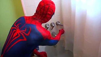 spiderman takes a tub spiderman tub time superhero.