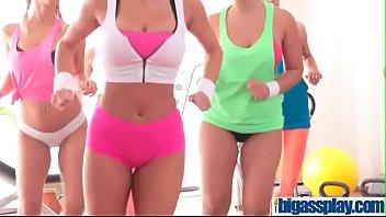 humungous bosoms girl/girl gym threesomebriana bounceamp_daisy leeamp_ellie springlareamp_lena.