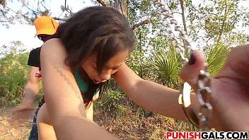 teenager bitch adrian maya poked outdoor