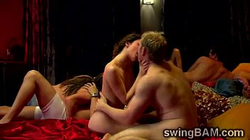 insatiable couples get involved in a kinky swingers.