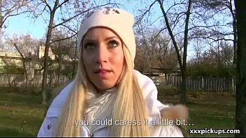 public oral for money with naughty teenager czech.