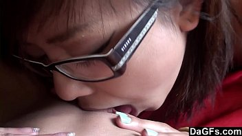 Two young lesbians have good time at home