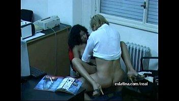 wild office latina gives fellatio to service fellow.