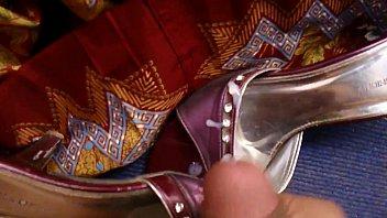 cum on wife'_s sexy sari sandal pt 2