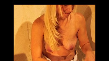 nude silver-blonde doll vomit puke barfing puking gasping.