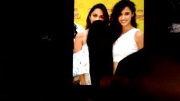 Cum tribute threesome with Disha and Kiara