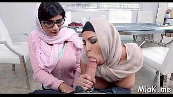 Breasty arab wench enjoys pussy-licking