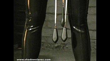 Sensory deprived slaveslut Cherry Torns leather fetish and extreme bdsm of ameri