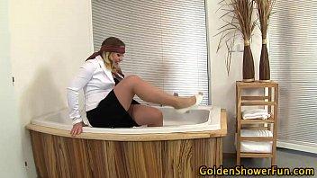 urinating superslut jism faced