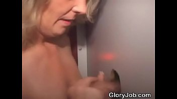 silver-blonde fledgling deep-throats trunk and takes cum-shot thru.