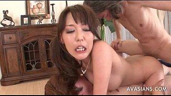 Hairy asian double holes penetration