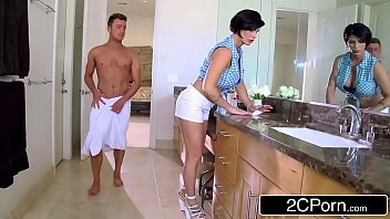 mature stepmother shay fox helps her stepson to.