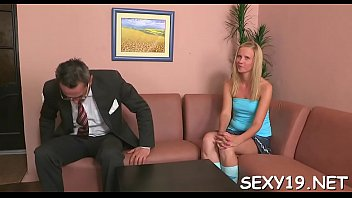 cutie is delighting mature professor with her chaste muff