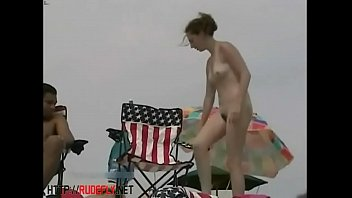 supreme spycam beach flick of a slickly-shaven labia tanning
