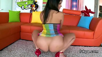 sugary lady showcases off thick backside and gets.