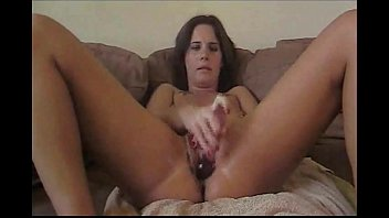 Brunette Masturbating To Squirting Orgasm