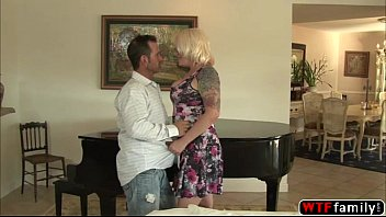 Blonde MILF Missy Monroe gets pussy licked and fingered by her stepson