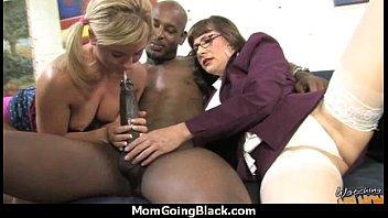 luxurious mommy with perky vulva pummel a dark-hued.