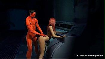3d Assazel fuck redhead big tits hard