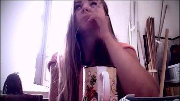 Cute girl smoking (Russia) (1)