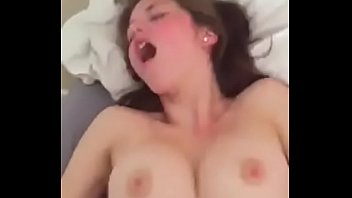 ample-titted stunner banged