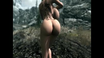 Big tits tattoo babe fucking around in Skyrim - Pornhubcom