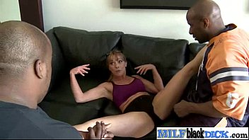 Sexy Busty Horny Milf Ride A Black Huge Dick video-28