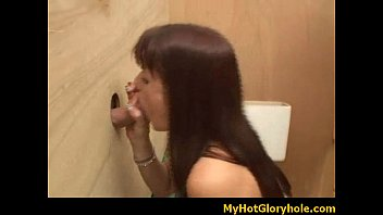 glory gloryhole dark-hued girls fellating her first-ever milky.