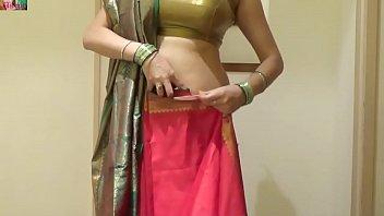 how to bind seedha palla saree.