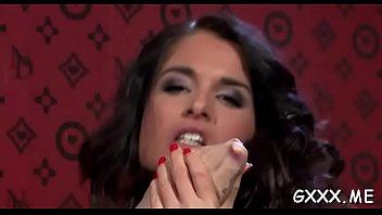 briljant girl/girl honey gets pierced fuckbox toyed with.