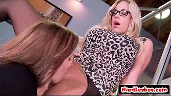 two monstrous breast lesbos going knuckle deep their.
