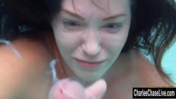 underwater beef whistle taunting with immense breast cougar.