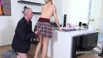 kissable student is enticed and humped by her.