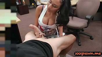 Huge tits latina pounded at the pawnshop