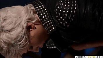 LesbianCUMS.com ⇨ Naughty Lesbian Mistress Hard Strapon Fuck