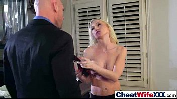 astounding fuck-a-thon on gauze with cuckold crazy housewife.