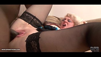 Black Cock Craving for Granny in Hardcore Interracial porno