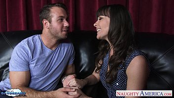 dark haired dana dearmond gets ripped up and facialized